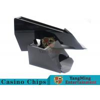 Black Color Gambling Dedicated Casino Card Shoe , One Deck Shoe For Poker Cards Manufactures