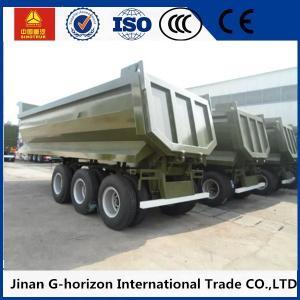High Strength 3 Axles 70 Tons Steel Hydraulic Rear End U shaped Dump Semi Trailer Manufactures