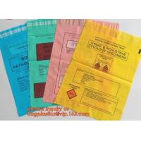 Medical Specimen Biohazard Plastic Bags / Hospital Vomit Bag PE Sheet Manufactures