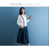 China cotton blue & white gingham dress fashionable n casual on sale
