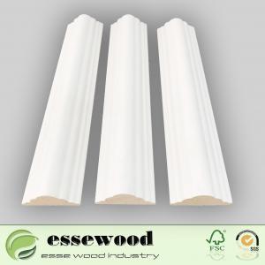Primed wood moulding white gesso primer  decoration moulding Manufactures