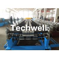 Metal Roof Panel Roll Forming Machine / Double Layer Forming Machine With Hydraulic Cutting Manufactures