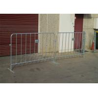 Electric Galvanized Temporary Fencing Crowd Control Barriers Metal Pedestrian Barriers Manufactures