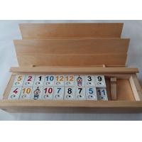 China Unfinished Natural Solid Wood Gift Packaging Box With Sliding Lid For Poker Cards on sale