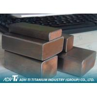 Titanium Copper Clad Metal Sheet Customized For Electroplating / Electrolysis Manufactures