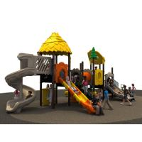 new nature design funny and colorful outddoor playground equipment with slides for kids Manufactures