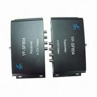 4-channel Video Multiplexers with Data , Ideal for Monitoring System Camera Manufactures