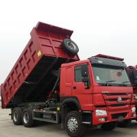 Sinotruk Heavy Duty 6 Wheel Dump Truck Horsepower 251-350hp Red Color Manufactures