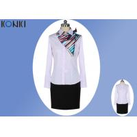 Female Pink Corporate Office Uniform Shirts Business Office Clothing Manufactures