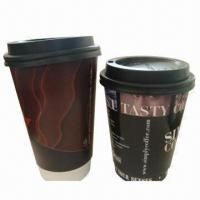 Double-wall Paper Cup w/ Flexo Printing/FDA Mark, Made of 320gsm Sun Paper, Different Sizes Manufactures