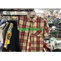 China Mens Second Hand Shirts Short Sleeves , British Style Used Mens Shirts on sale