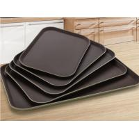 China Non Slip Toughened Fiberglass Food Serving Tray / Food Platter Trays For Restaurant on sale