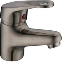 One Handle Deck Mounted Brushed Nickel Basin Tap Faucets , Antique Brass Bathroom Faucets Manufactures