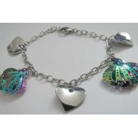 Cheap Costume Jewelry Trendy Stainless Steel Bracelets for Women with Heart Design Manufactures