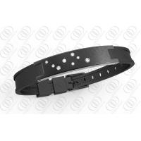 Star Dust Black Silicone Stainless Steel Bracelets Bio Ionized Magnetic for Health Manufactures