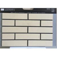 China Yellow Culture Thin Brick Veneer Tiles For Walls Strong Acid / Alkali Resistance on sale