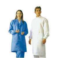 Clean Room Anti Static Products Esd Lab Coats Outwear With Greaseproof Non Toxic Manufactures