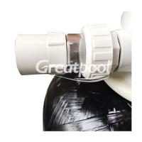 Buy cheap 400mm Black Fiberglass Top Mount Sand Filter Cleaning Equipments For Swimming from wholesalers