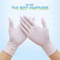 China Hand Care Disposable Medical Gloves Rubber Latex Medical Examination Gloves on sale