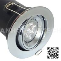 Quality China GU10 Aluminium Centre Tilt LED Fire Rated Downlight - Chrome Color for sale