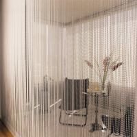 Metal Bead Curtain Metal ball Chain Curtain For Room Divider Manufactures