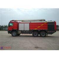 16 Forward Gears Fire Rescue Vehicles , HALE Pump 6000L/Min Airplane Fire Truck Manufactures
