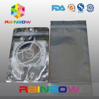 China Three Side Seal Front Transparent Back Foil Anti Static Bag With Zipper And Tear Notch on sale
