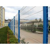 Powder Coating Triangular Bending Welded Mesh Fence / Garden Fence Wire Mesh Manufactures