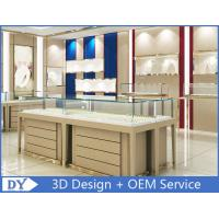 High End Store Jewelry Display Cases , Wood Gold Shop Jewelry Showroom Furniture Manufactures