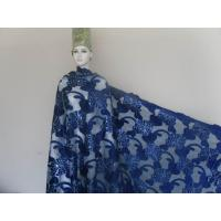 51/ 52 Blue Velvet Lace Fabric African For Evening Dress Manufactures