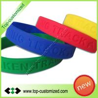 Fashion debossed silicone bracelet Manufactures