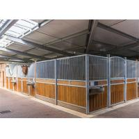 China Movable 10x10 12x12 Big Horse Stall Panels With Hot Dipped Galvanized Frame on sale