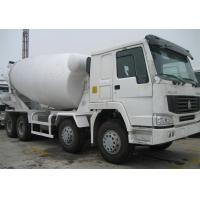 Mobile Concrete Mixer Truck ZZ1257N4047D1 25 Tons 336HP With Pump Euro 2 Emission Manufactures
