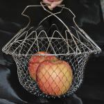 Metal 201 304 Stainless Steel Fry Basket / Chip Pan Basket 220mm Diameter Manufactures