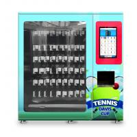 China tennis ball vending machine with x-y axis elevator and adjustable channel width function on sale