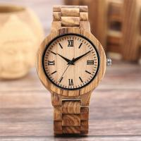 China Personalized Genuine Leather Wooden Quartz Watch Winder Wood With Engraved Logo on sale