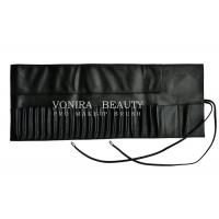 Portable 26 Pockets Travel Makeup Brush Rolling Case Pouch Holder Cosmetic Bag Black Leather Manufactures