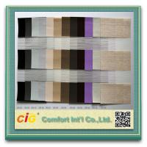 Zebra Blind Modern Home Textile Fabric / Decorative Curtain Fabric Striped Manufactures