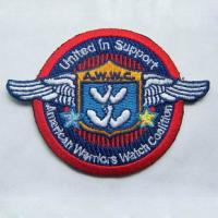 Embroidery military badge velcro on backing Manufactures