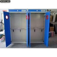 China Steel Laboratory Gas Cylinder Storage Cabinet 600/900/1200 Width With Vent System on sale