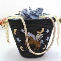 wheat straw shoulder handbags 80296 Manufactures