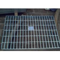 Galvanized Steel Grating Drain Cover With Angle Frame Urban Road / Square Suit Manufactures