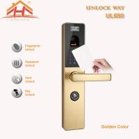 Touch Screen RFID Card Biometric Fingerprint Door Lock With Keyless , CE / FCC Manufactures