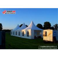 China Clear Door Beer Festival Tent Temporary Tent Dia 6M With Sandwich Panel Wall wholesale