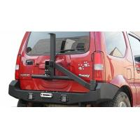 Jimny Sport C rear bumper with spare tire rack 4x4 Tail Bumper for Jimny auto steel sport bumper Manufactures