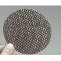 25-60 Mesh Stainless Steel Filter Disc , Wire Mesh Filter Screen Round / Square Hole Manufactures