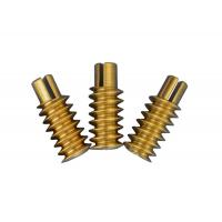 China Brass Cnc Worm Gear 120mm Length 1 Lead 0.5 Module For Gear Motor  ISO/ 7 on sale