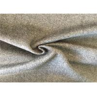 Herringbone Wool Fabric / Charcoal Wool Fabric For Dressmaking 500g/M Manufactures