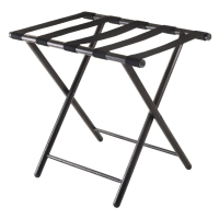 Tubular Straight Leg Hotel Display Stand With 5 Black Straps Manufactures