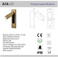 Rotating european IP40 headboard wall light flexible 3W bed wall light&wall reading lamp hotel Manufactures